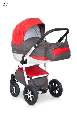 Коляска 3-в-1 Expander Mondo Ecco (27/серый-красный) женские сапоги ecco 351123 14 11001 01220