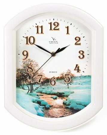 Часы Вега П 2-7/7-17 белый рисунок цена