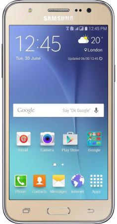 Смартфон Samsung Galaxy J5 2016 золотистый 5.2 16 Гб NFC LTE Wi-Fi GPS 3G SM-J510FZDUSER смартфон samsung galaxy s7 edge синий 5 5 32 гб nfc lte wi fi gps 3g sm g935fzbuser