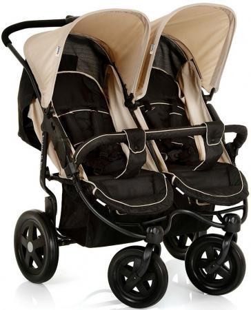 Прогулочная коляска для двоих детей Hauck Roadster Duo SLX (caviar/almond) коляска 3 в 1 hauck priya trioset caviar pistachio