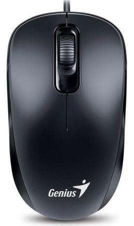 Мышь проводная Genius DX-110 чёрный USB мышь проводная genius dx 100x чёрный usb