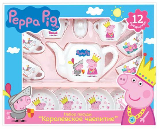 Набор посуды Peppa Pig Королевское чаепитие 12 предметов 29699 peppa pig набор фломастеров утолщенные 12 цветов