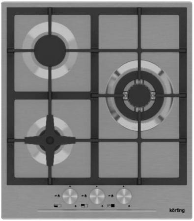 Варочная панель газовая Korting HG 465 CTX серебристый цена и фото