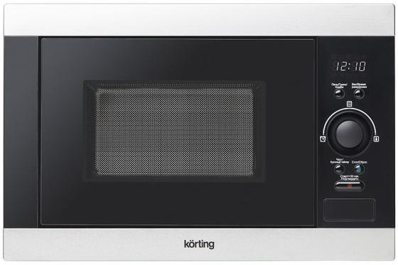 Встраиваемая микроволновая печь Korting KMI 825 XN 900 Вт серебристый