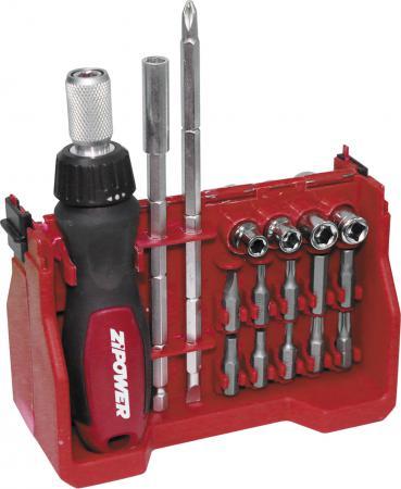 Набор отверток ZIPOWER PM 5102 автомобильный компрессор с пылесосом zipower pm 6510 15л мин