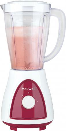 Блендер стационарный Maxwell MW-1171-BD 450Вт белый красный блендер настольный maxwell mw 1171 bd 450вт белый красный