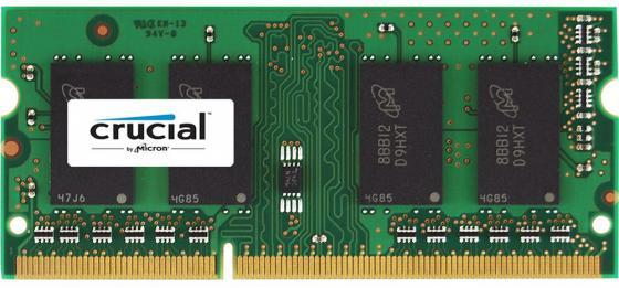 Оперативная память для ноутбука 16Gb (1x16Gb) PC3-12800 1600MHz DDR3 SO-DIMM CL11 Crucial CT204864BF160B