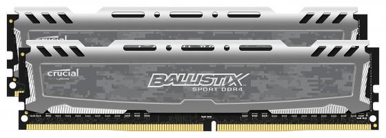 Оперативная память 16Gb (2x8Gb) PC4-19200 2400MHz DDR4 DIMM Crucial BLS2C8G4D240FSB оперативная память 16gb 2x8gb pc4 19200 2400mhz ddr4 dimm corsair cmk16gx4m2z2400c16
