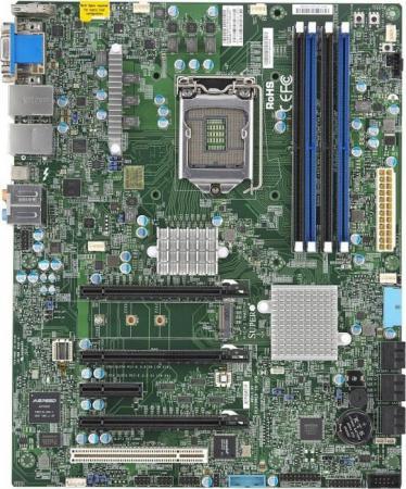 Материнская плата Supermicro mbd-X11SAT-F-O Socket 1151 C236 4xDDR4 2xPCI-E 16x 2xPCI 2xPCI-E 1x 8xSATAIII ATX Retail материнская плата supermicro mbd x11sae f o soc 1151 ic236