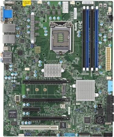 Материнская плата Supermicro mbd-X11SAT-F-O Socket 1151 C236 4xDDR4 2xPCI-E 16x 2xPCI 2xPCI-E 1x 8xSATAIII ATX Retail мат плата для пк gigabyte ga b250 hd3 socket 1151 b250 4xddr4 2xpci e 16x 2xpci 2xpci e 1x 6xsataiii atx retail