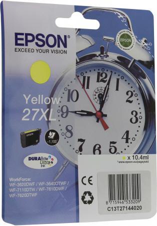 Картридж Epson C13T27144020 для Epson WF-3620/3640/7110/7610/7620 желтый refurbished printhead for epson wf 7620 7620 7621 7610 nozzle print head