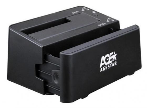 Док станция для AgeStar 3UBT3-6G черная док станция для hdd agestar 3ubt3 6g черный