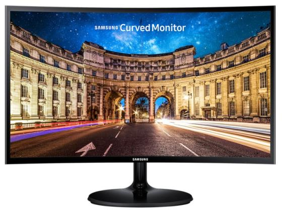 Монитор 23.6 Samsung C24F390FHI черный VA 1920x1080 250 cd/m^2 4 ms HDMI VGA Аудио монитор 27 samsung c27f591fdi серебристый va 1920x1080 250 cd m^2 4 ms hdmi displayport vga аудио