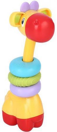 Игрушка-прорезыватель Bright Starts «Веселый жираф» с 3 месяцев обучающая разноцветный 10222 прорезыватель bright starts динозаврик желтый 52029 2