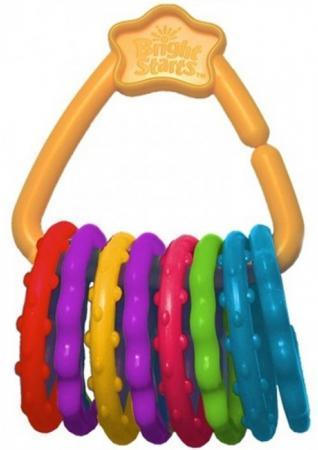 Игрушка-прорезыватель Bright Starts Веселые колечки с 3 месяцев обучающая разноцветный 10228 игрушка подвеска bright starts развивающая игрушка щенок