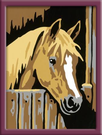 Раскраска по номерам Ravensburger «Лошадь в стойле» от 9 лет 29582