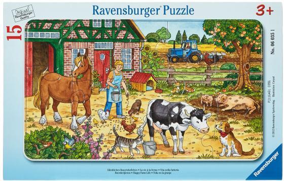 Пазл 15 элементов Ravensburger Жизнь на ферме 6035 на ферме