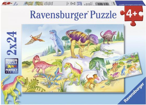 Пазл 48 элементов Ravensburger Красочные динозавры 09118 пазл ravensburger сейшелы 1500 элементов