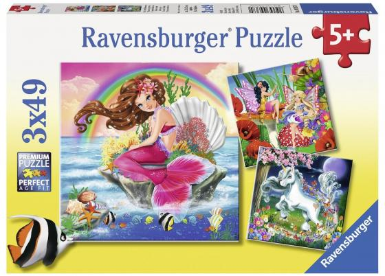 Пазл 3-в-1 147 элементов Ravensburger Воображаемые друзья пазл 3 в 1 147 элементов ravensburger первобытные хищники 09358