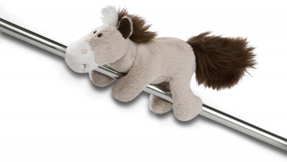 Магнит лошадь NICI Лошадь серо-бежевая 12 см серый бежевый плюш 36893 мягкие игрушки nici пеликан сидячий 50 см