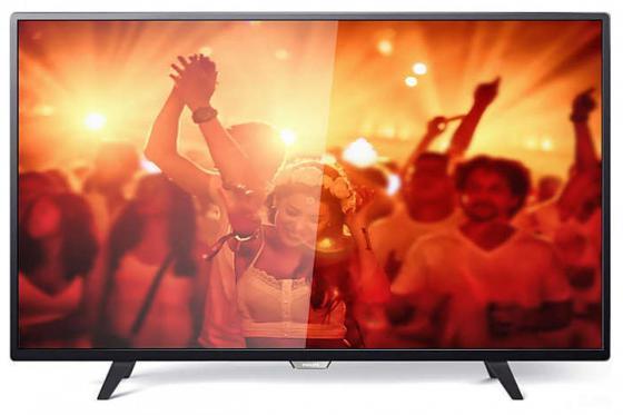Телевизор LED 32 Philips 32PHT4001/60 черный 1366x768 200 Гц USB SCART телевизор philips 22pft4031 60 led full hd pmr 100 черный