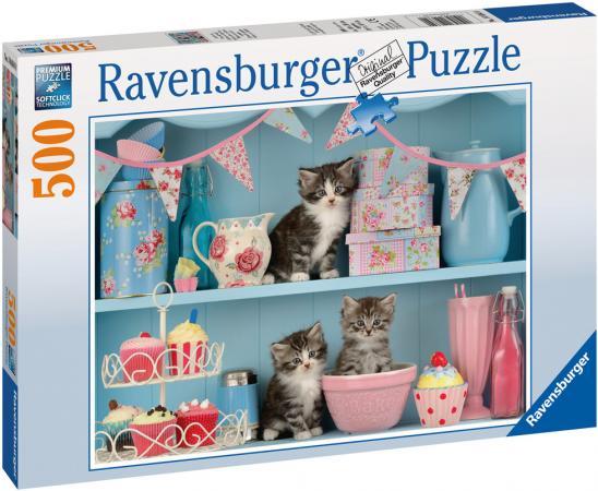 Пазл 500 элементов Ravensburger Котята и кексы 14684 фруктовница 2 уровня кексы