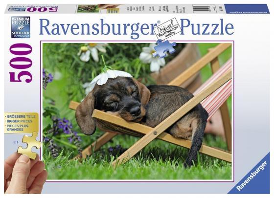 Пазл 500 элементов Ravensburger Милая такса 13649