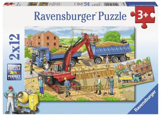 Пазл 24 элемента Ravensburger Стройка дома