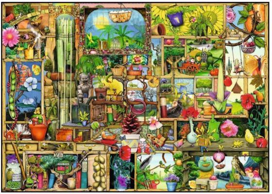 Пазл 1000 элементов Ravensburger Шкаф садовника