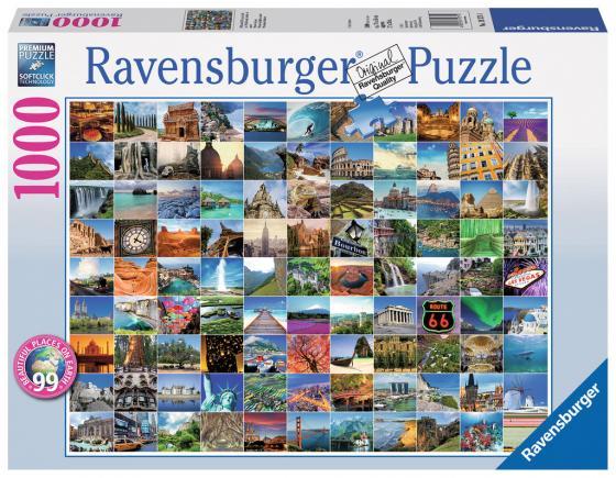 Пазл 1000 элементов Ravensburger 99 красивейших мест на Земле пазл ravensburger сейшелы 1500 элементов