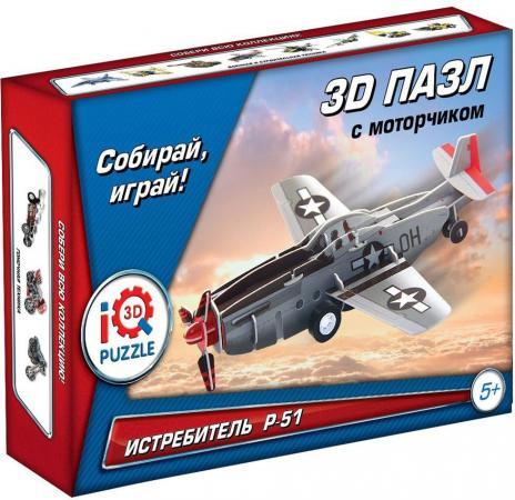 Пазл 3D 20 элементов Fusion Toys Истребитель P-51 инерционный FT20003 iq puzzle пазл 3d классический истребитель f41 в 38 деталей