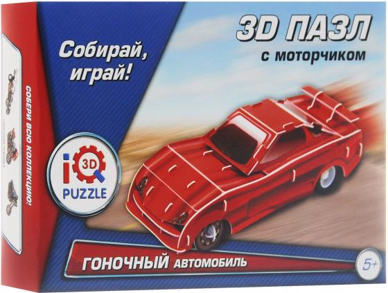 Пазл 3D 29 элементов Fusion Toys Красный гоночный автомобиль, инерционный FT20013 iq puzzle пазл 3d желтый гоночный автомобиль 29 деталей
