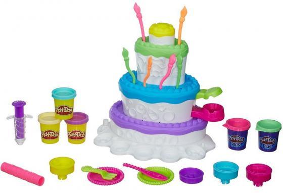 Набор для творчества Hasbro Play-Doh Праздничный торт  A7401H игровой набор hasbro play doh праздничный торт