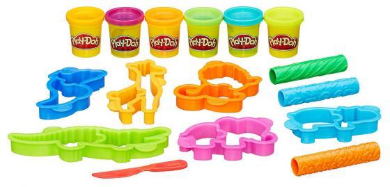 Набор для творчества Hasbro Play-Doh Весёлые сафари  B1168 оружие игрушечное hasbro hasbro бластер nerf n strike mega rotofury
