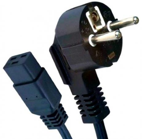 Кабель питания 1.8м 16А Gembird PC-186-C19 черный с заземлением кабель питания для ноутбуков 3pin 1 8м 10а gembird pc 186 ml12 с заземлением