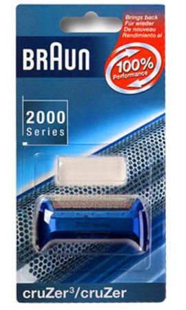 Сетка Braun 2000 Cruzer Calypso Blue 20S без ножей бритвенная сетка и режущий блок braun cruzer 20s