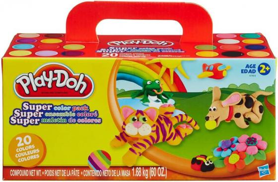 Набор для лепки Hasbro Play-Doh 20 шт A7924 play doh игровой набор магазинчик домашних питомцев