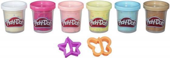 Набор для лепки Hasbro Play-Doh с конфетти 6 баночек B3423 hasbro play doh a5417 набор из 6 баночек блестящая коллекция