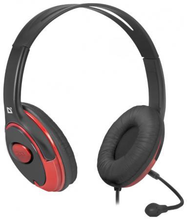 Гарнитура Defender Phoenix 875 черно-красный 63875