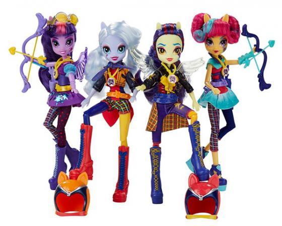 Игровой набор HASBRO My Little Pony Equestria Girls Кукла спорт Темномолнии hasbro my little pony equestria girls b8824 пижамная вечеринка набор для пляжного спорта рэнбоу дэш
