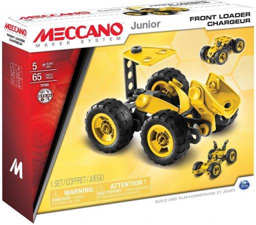 Конструктор Meccano Фронтальный погрузчик 65 элементов 91744 meccano эйфелева башня 2 модели meccano