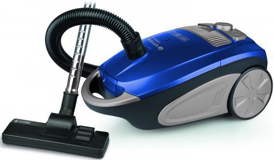 Пылесос Vitek VT-1892B с мешком 2200/450Вт синий пылесос vitek vt 1826bk 2200 450вт черный