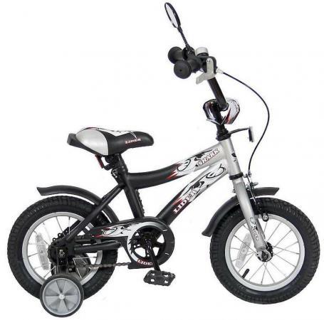 "Велосипед двухколёсный Velolider LIDER SHARK 12"" 12A-1287GR серый/черный"