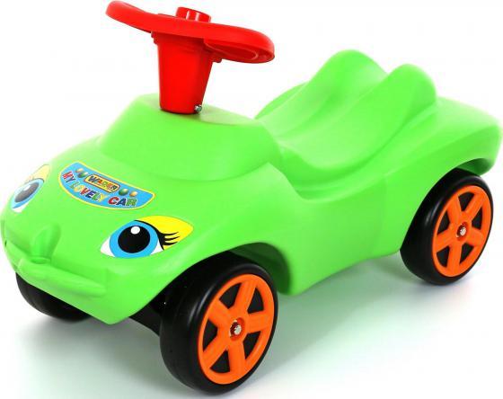 Каталка-машинка Wader Мой любимый автомобиль пластик от 10 месяцев с гудком зеленый 44617 автомобиль balbi автомобиль черный от 5 лет пластик металл rcs 2401 a