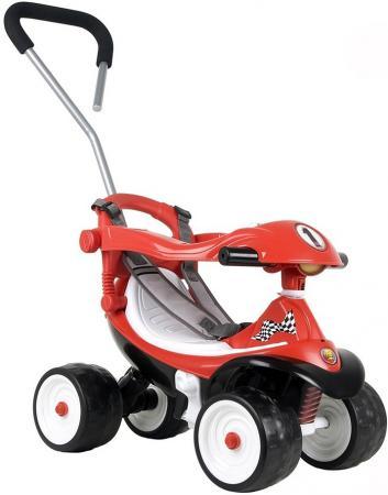 Каталка-машинка Coloma Квадрик Formula 2 пластик от 6 месяцев с ручкой для родителей красный 46314 каталка ходунок coloma trimarc разноцветный от 18 месяцев пластик