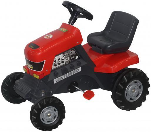 Каталка-трактор с педалями Turbo 52674 каталка полесье с педалями и полуприцепом трактор turbo 2