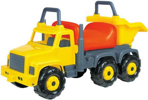 Каталка-машинка Cavallino Супергигант-2 пластик от 2 лет на колесах желтый 7889 каталка everflo м002 2 металл от 3 лет на колесах зеленый м002 2