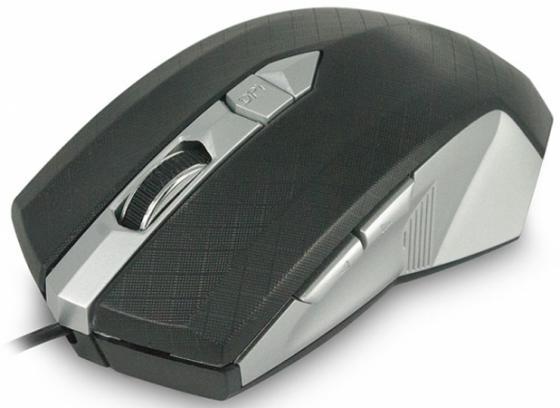 Мышь проводная CBR CM 345 чёрный серебристый USB мышь cbr cm 500 grey