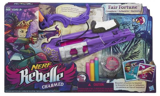 Арбалет Nerf Rebelle Чарм - Фортуна для девочки оружие игрушечное hasbro nerf бластер зомби слингфайр