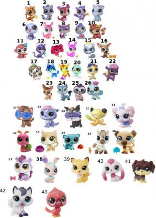 Игрушка HASBRO Littlest Pet Shop A8229 в ассортименте оружие игрушечное hasbro hasbro бластер nerf n strike mega rotofury